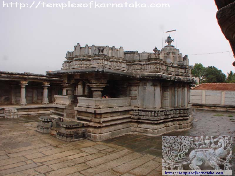 Anekere - Channakeshava Temple - South East view