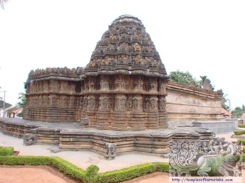 Aralaguppe - Channakeshava Temple - North West view