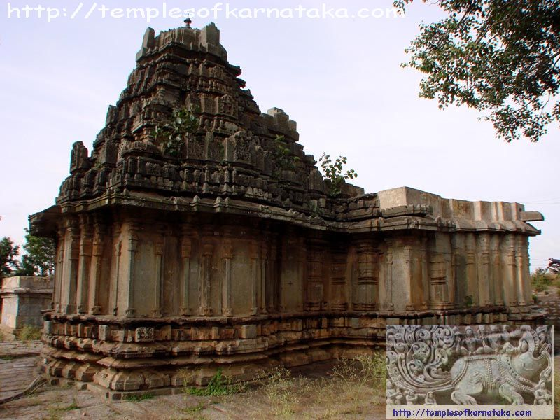 Santhebachalli - Mahalingeshwara Temple - South West view